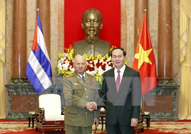 国家主席陈大光:越南在任何情况下都愿与古巴肩并肩站在一起 hinh anh 1
