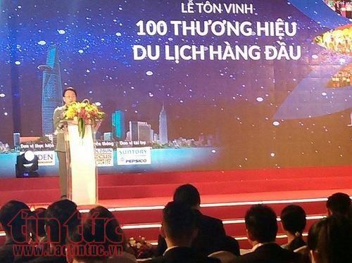 2016年胡志明市100个一流旅游品牌表彰盛典在胡志明市举行 hinh anh 1