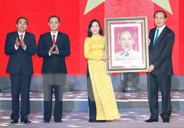 陈大光主席出席宁平省建省25周年纪念大会 hinh anh 1