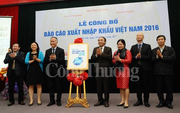 2016年越南进出口报告出炉 出口增速保持在9%的水平 hinh anh 1