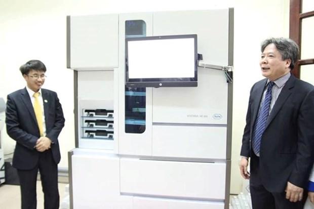 越德医院启用现代化疾病自动化验机 hinh anh 1