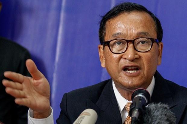 柬埔寨反对党救国党前主席桑兰西被判处1年和8个月监禁 hinh anh 1