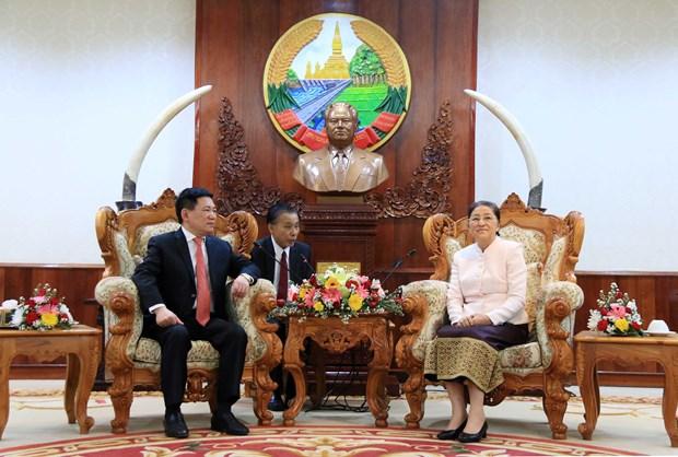 老挝国会和政府领导人高度评价越南国家审计署的帮助 hinh anh 2