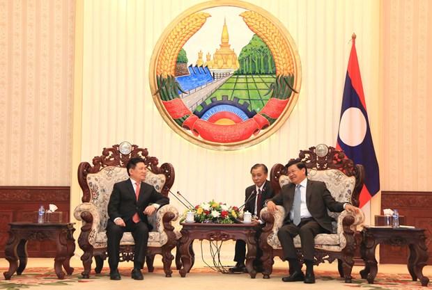 老挝国会和政府领导人高度评价越南国家审计署的帮助 hinh anh 1