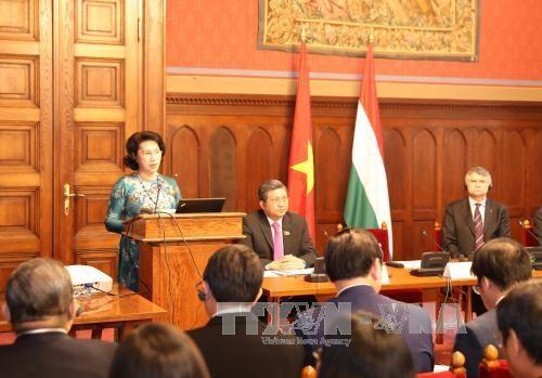 越南国会主席阮氏金银圆满结束对匈牙利的正式访问 hinh anh 2