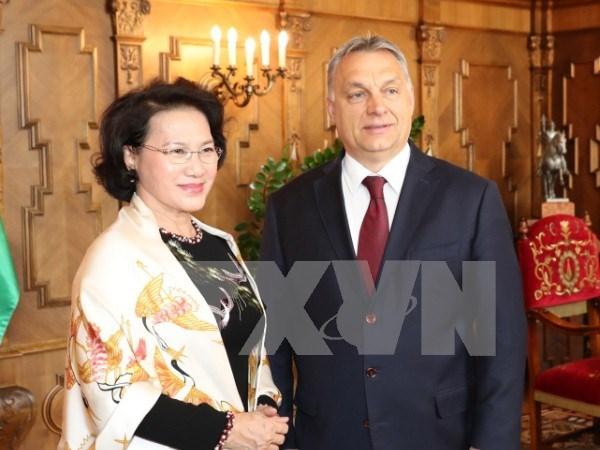 越南国会主席阮氏金银会见匈牙利总理欧尔班·维克多 hinh anh 1