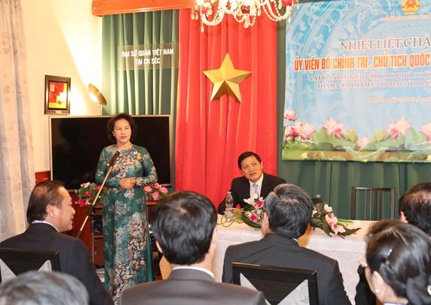 阮氏金银主席:越南一如既往支持并为越南驻外机构创造便利条件 hinh anh 1