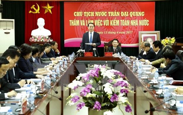 越南国家主席陈大光: 国家审计署应主动参与反腐败工作 防止国家资产流失 hinh anh 1
