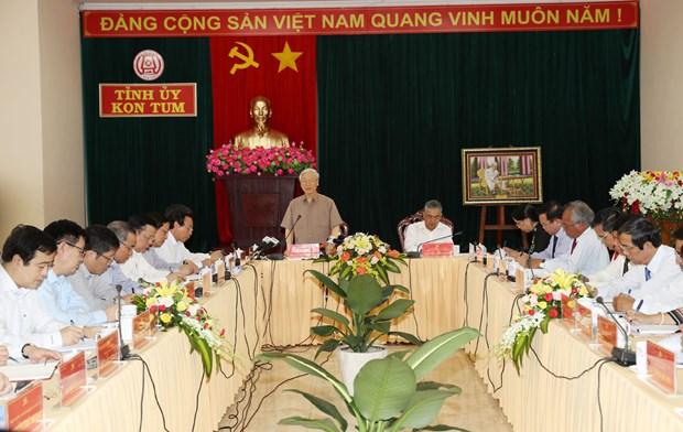 阮富仲总书记:昆嵩省需继续实现快速可持续发展 hinh anh 3