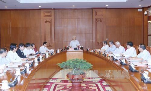 中央反腐败指导委员会常委会会议:2017年内完成对12起案件的立案查处工作 hinh anh 1