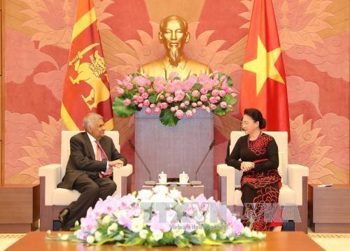越南国会主席阮氏金银会见斯里兰卡总理拉尼尔·维克勒马辛哈 hinh anh 1