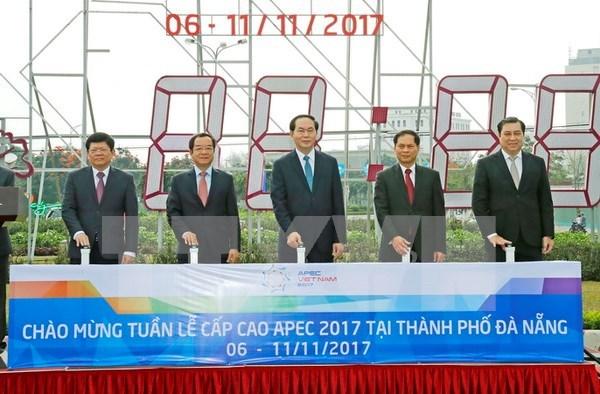 陈大光主席对2017年APEC领导人会议周筹备工作进行实地考察 hinh anh 1