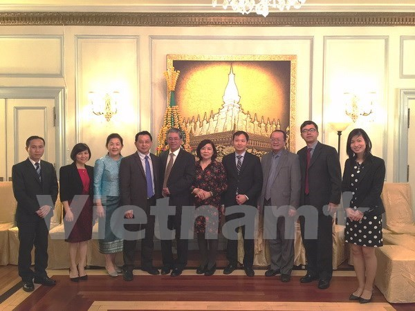 越南驻美大使向旅美老挝人致以传统节日祝福 hinh anh 1