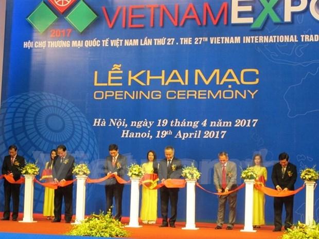2017年越南国际贸易博览会开展 参展企业逾500家 hinh anh 1