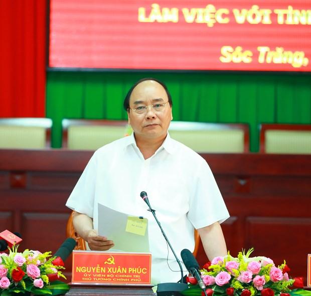 阮春福总理:朔庄省应集中扩大具有优势的高产水稻和果树种类种植面积 hinh anh 2
