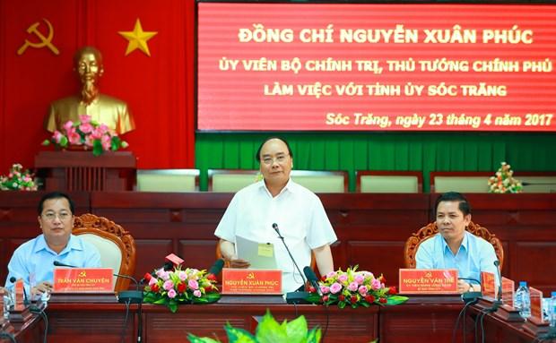 阮春福总理:朔庄省应集中扩大具有优势的高产水稻和果树种类种植面积 hinh anh 1
