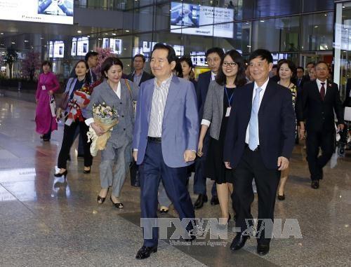 韩国国会议长丁世均开始对越南进行正式访问 hinh anh 1