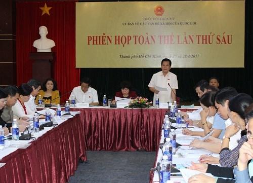 越南国会社会问题委员会举行第6次全体会议 hinh anh 1