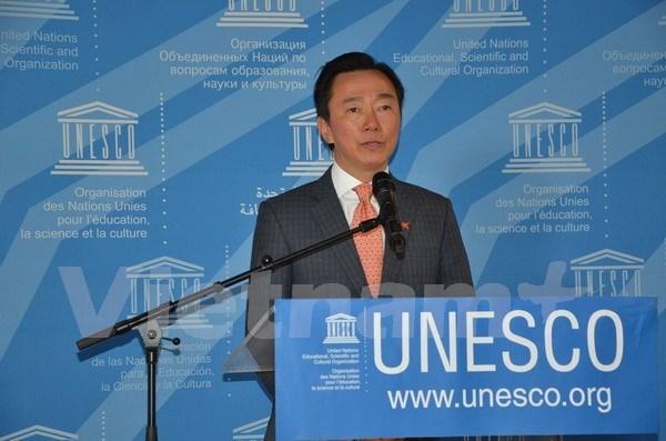 越南外交部部长助理范生朱竞选联合国教科文组织总干事 hinh anh 1