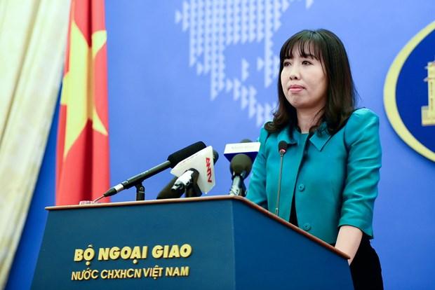 外交部发言人黎氏秋姮:越南坚决反对侵犯越南主权的活动 hinh anh 1