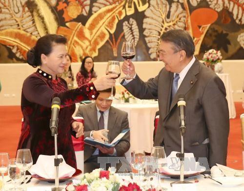 国会主席阮氏金银与日本国会众议院议长大岛理森举行会谈 hinh anh 4