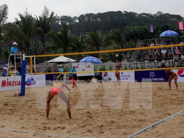 2017年下龙巡州亚洲女子沙滩排球赛正式开赛 hinh anh 1
