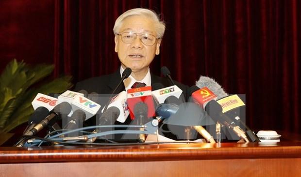 阮富仲总书记:促进民营经济发展成为社会主义市场经济体制的重要动力 hinh anh 1