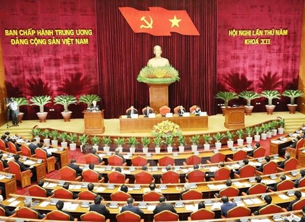 越共第十二届中央委员会第五次全体会议进入第二个工作日 hinh anh 1