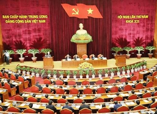 越共第十二届中央委员会第五次全体会议进入第四个工作日 hinh anh 1