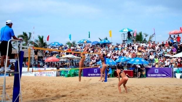 中国队获2017年下龙市巡州亚洲女子沙滩排球赛冠军 hinh anh 1