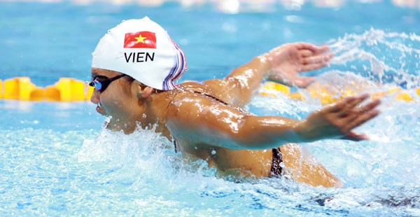越南游泳女将阮氏映圆在美国游泳系列赛获得两枚银牌 hinh anh 1