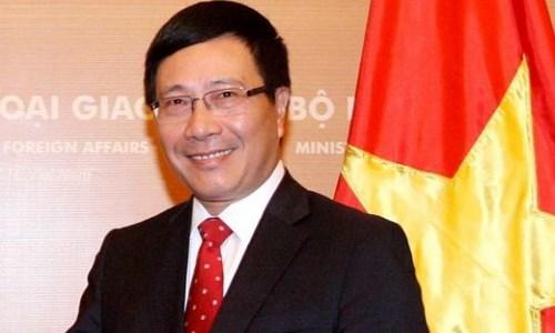 越南政府副总理兼外交部长范平明访问日本 hinh anh 1