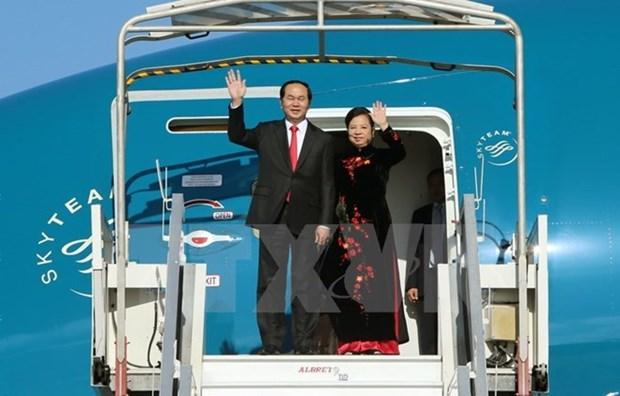 陈大光主席访华进一步深化越中两党、两国的合作 hinh anh 1