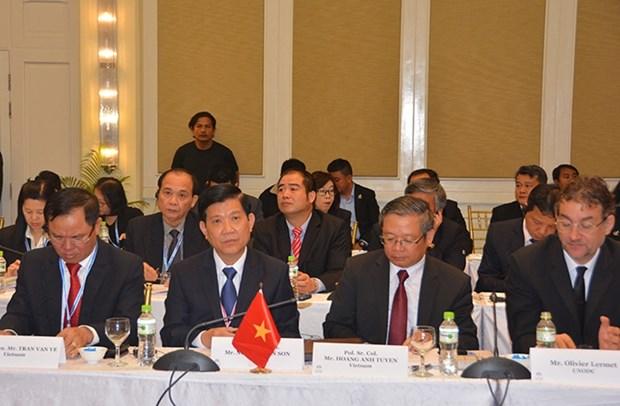 越南与湄公河次区域各国加强合作打击毒品犯罪 hinh anh 1