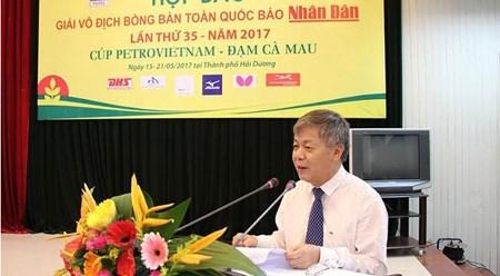 第35届《人民报》全国乒乓球锦标赛即将在海阳省举行 hinh anh 1