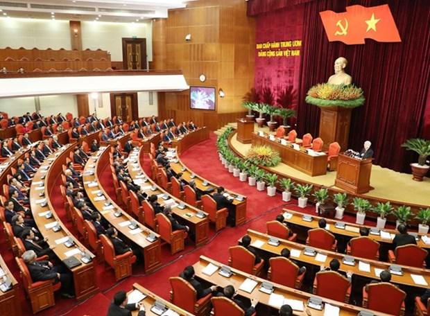 越共第十二届中央委员会第五次全体会议闭幕会新闻公报 hinh anh 1