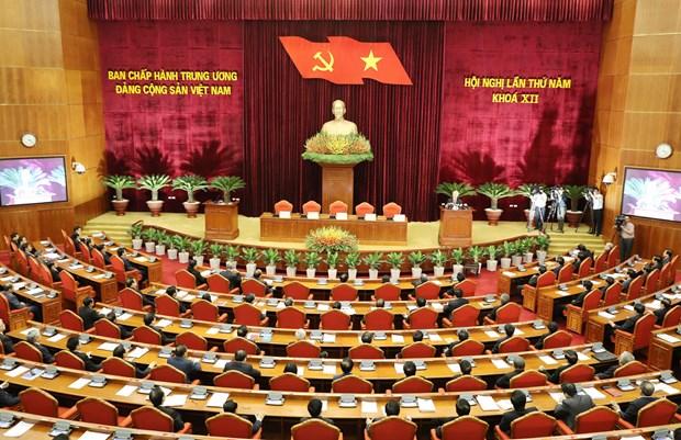 越共第十二届五中全会落幕 发布三项经济决议 hinh anh 1