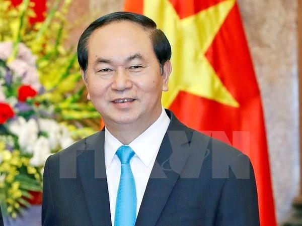 越南国家主席陈大光访华:提高两国合作效果 hinh anh 1