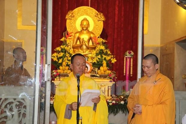 旅居印度越南人庆祝2017年佛诞节 hinh anh 1