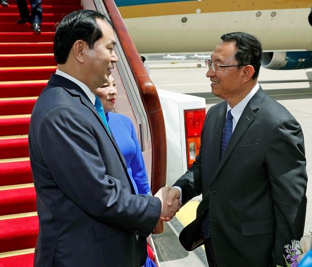 越南国家主席陈大光开始对中国进行国事访问 hinh anh 1