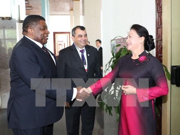 越南国会主席阮氏金银会见议联主席和秘书长 hinh anh 1