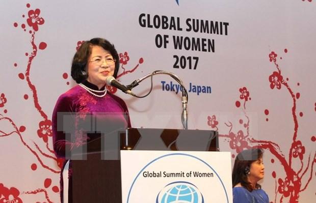 越南国家副主席邓氏玉盛出席2017年全球妇女峰会开幕式 hinh anh 1