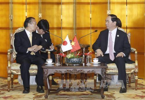 国家主席陈大光会见巴基斯坦和日本领导 hinh anh 2