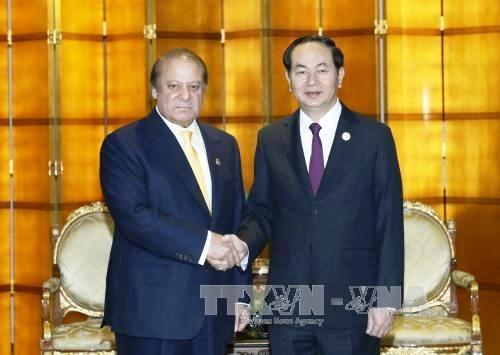 国家主席陈大光会见巴基斯坦和日本领导 hinh anh 1
