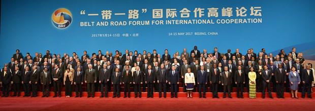 """""""一带一路""""国际合作高峰论坛在北京正式开幕 hinh anh 1"""