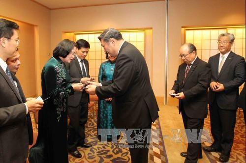 国家副主席邓氏玉盛在日本福冈县开展的系列活动 hinh anh 2