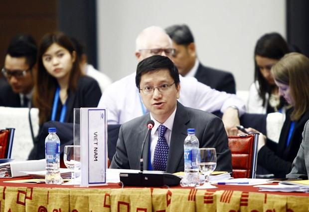 APEC第23届贸易部长集中核查APEC会议各优先事项落实情况 hinh anh 1
