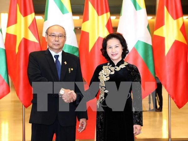 缅甸议会上院议长圆满结束对越南的正式访问 hinh anh 1