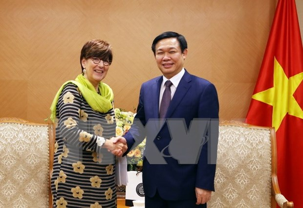 政府副总理王廷惠会见比利时驻越南大使让娜 · 罗卡 hinh anh 1