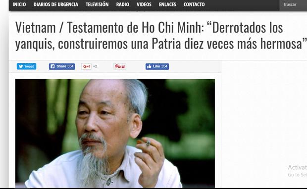 阿根廷媒体赞美胡志明主席领导能力 hinh anh 1